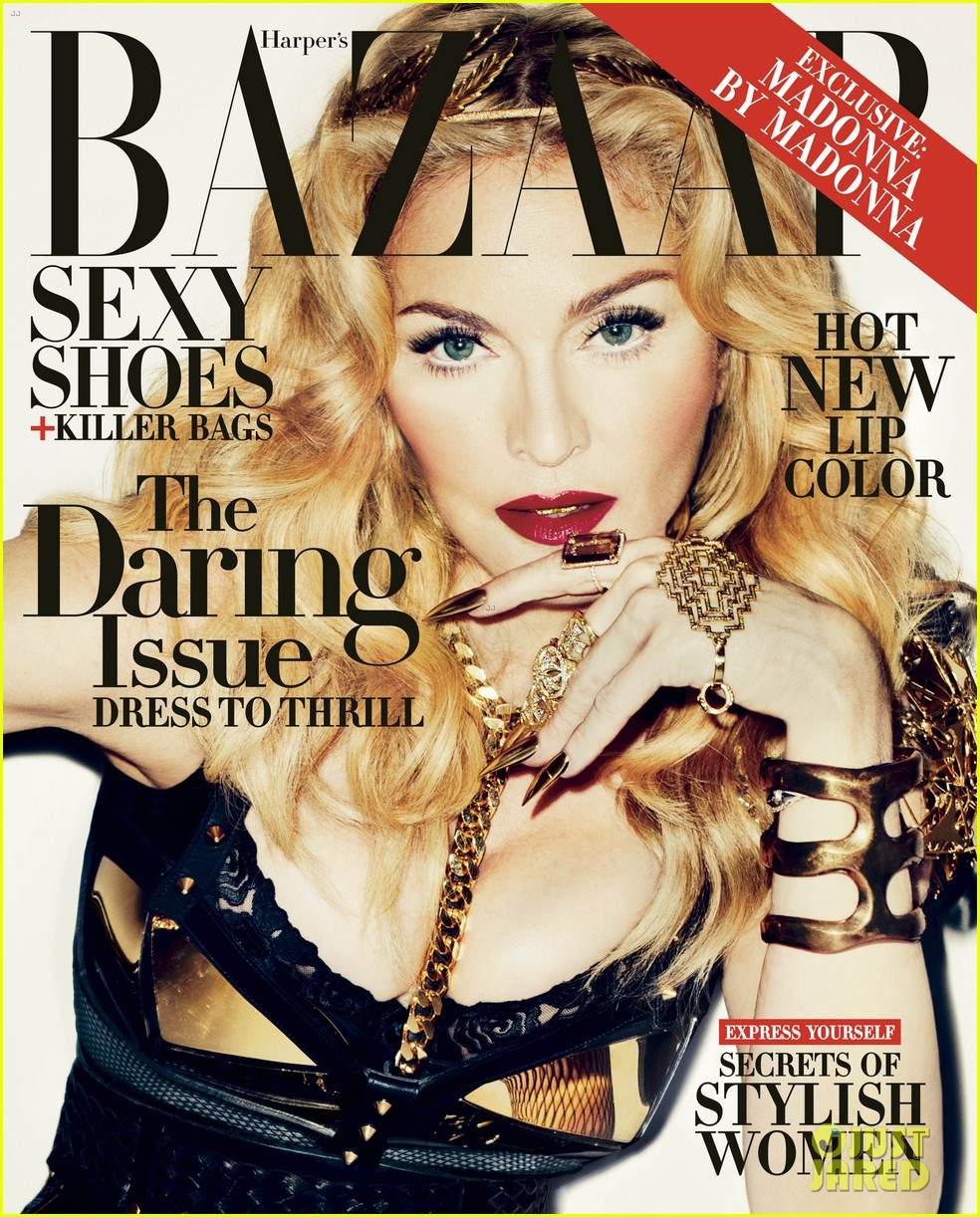 madonna covers harpers bazaar daring issue for november 032965912