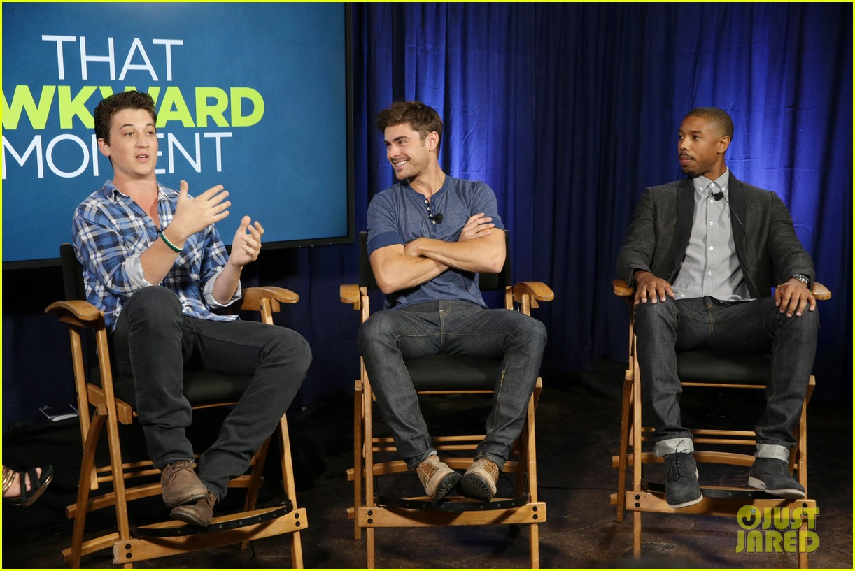 michael b jordan miles teller that awkward moment qa with zac efron 142973154