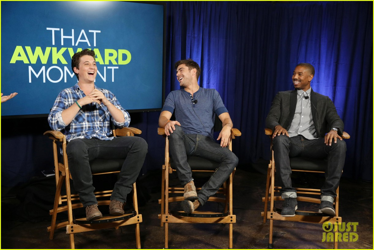 michael b jordan miles teller that awkward moment qa with zac efron 152973155