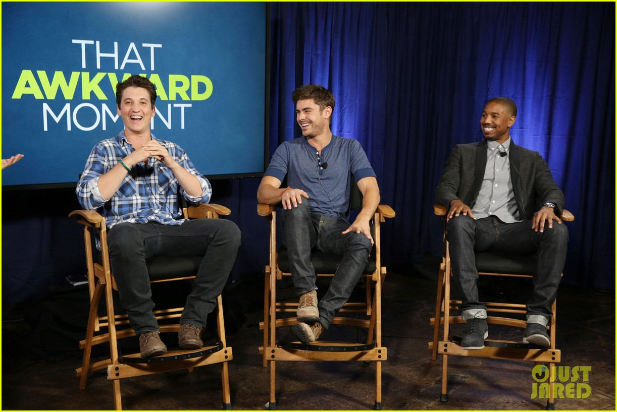 michael b jordan miles teller that awkward moment qa with zac efron 172973157