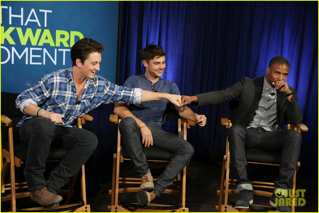 michael b jordan miles teller that awkward moment qa with zac efron 192973159
