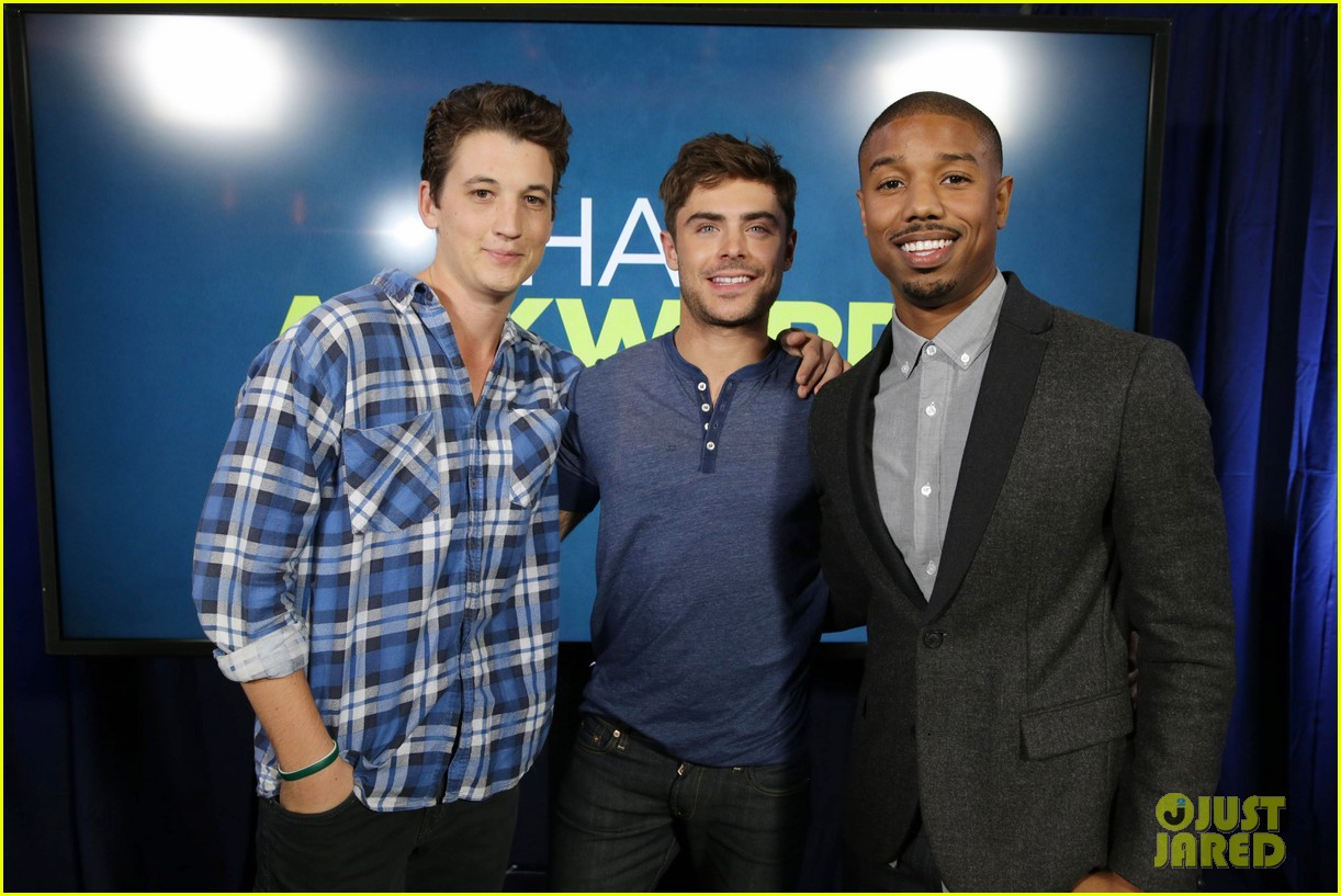 michael b jordan miles teller that awkward moment qa with zac efron 232973163