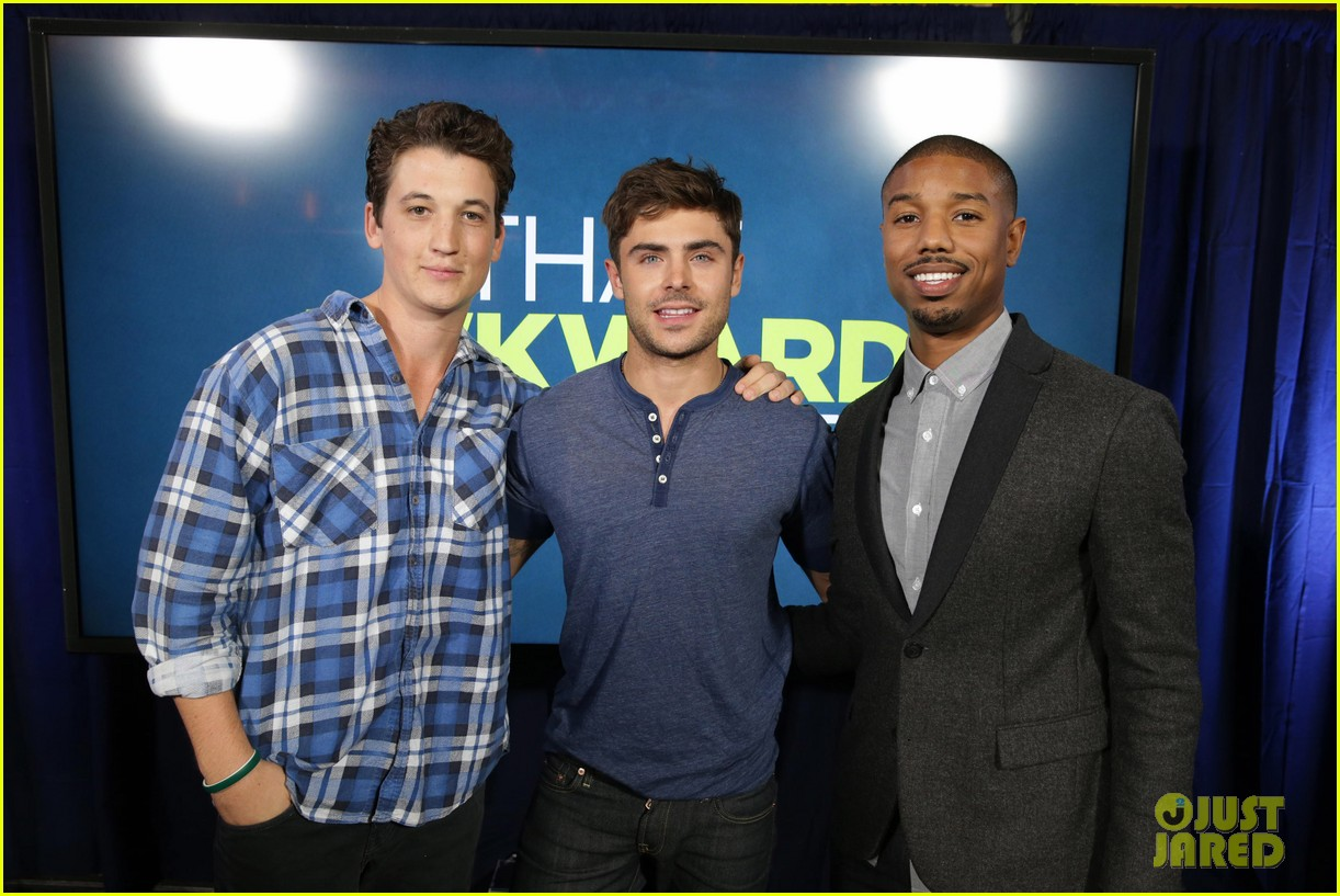 michael b jordan miles teller that awkward moment qa with zac efron 252973165