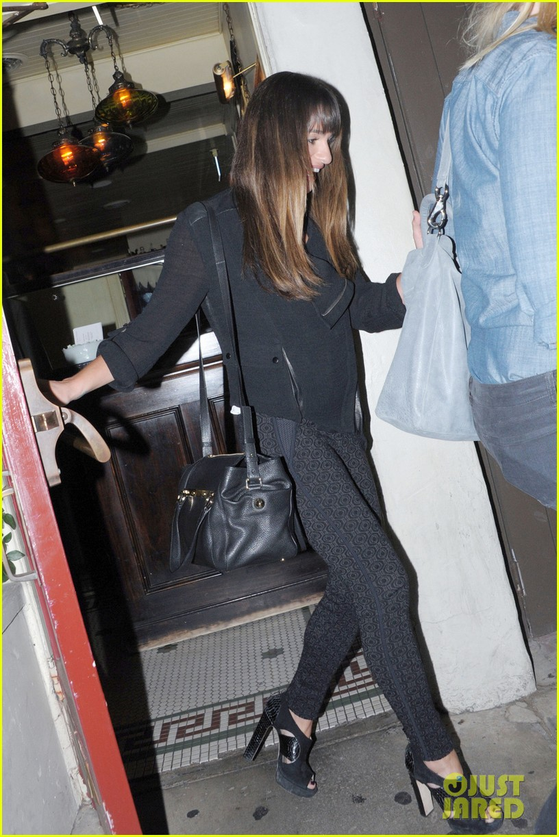 lea michele girls night out at dominiks 012963752
