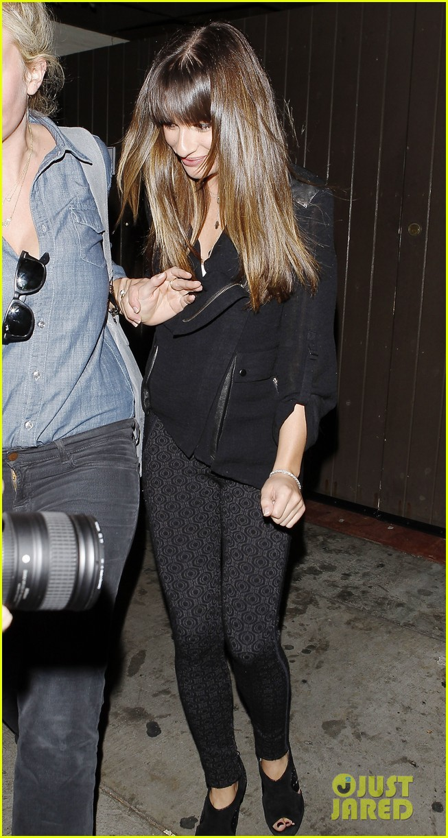 lea michele girls night out at dominiks 02