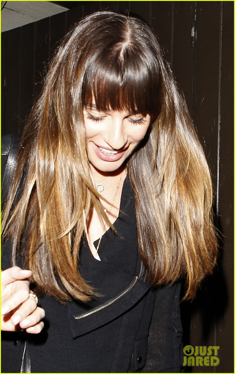 lea michele girls night out at dominiks 082963759