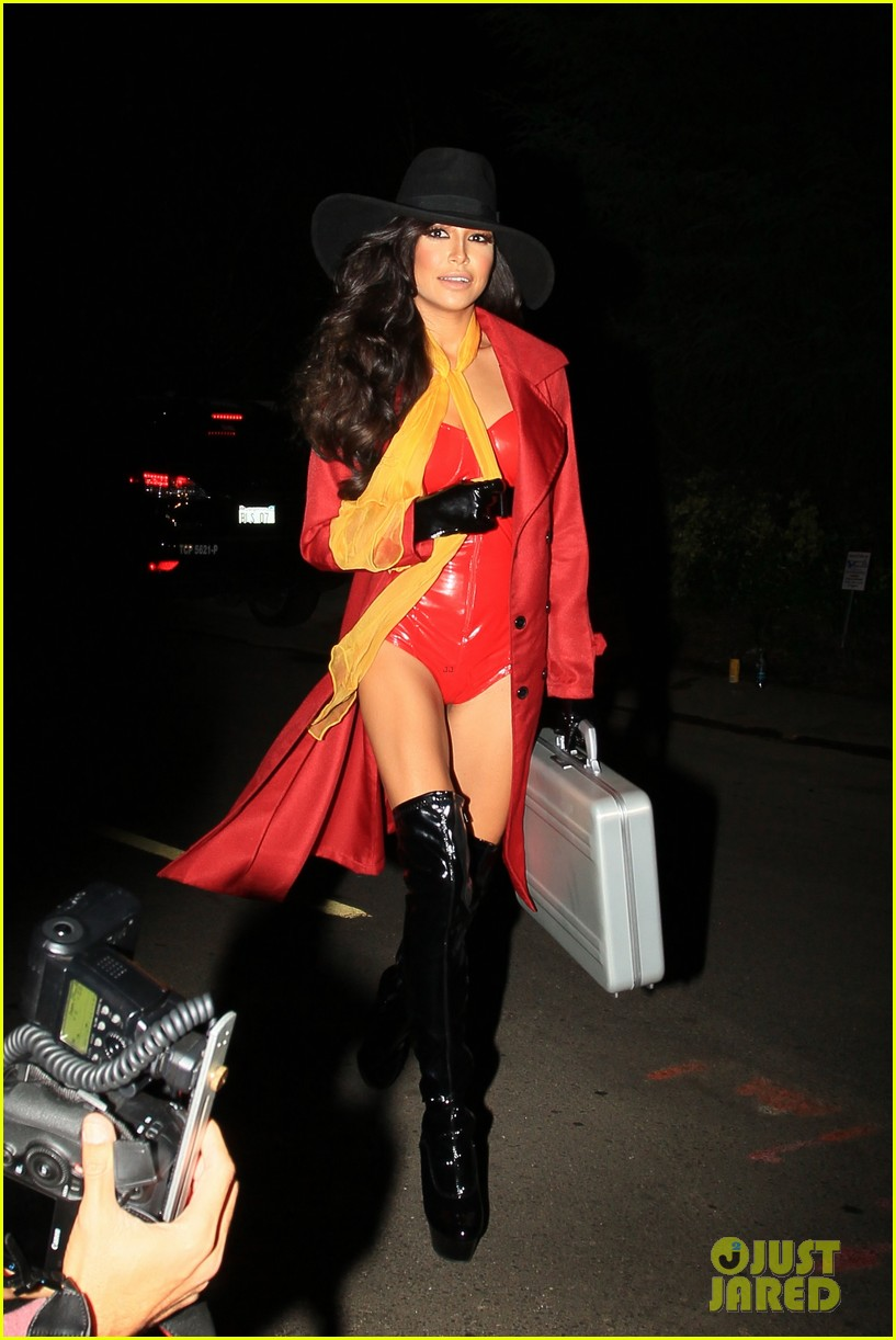 naya rivera adam lambert hit up some halloween parties 082981247