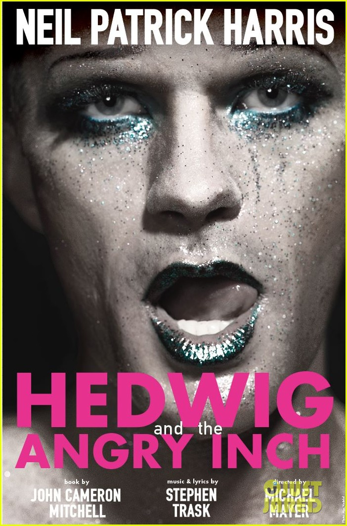 neil patrick harris glitter makeup for hedwig broadway poster2972533