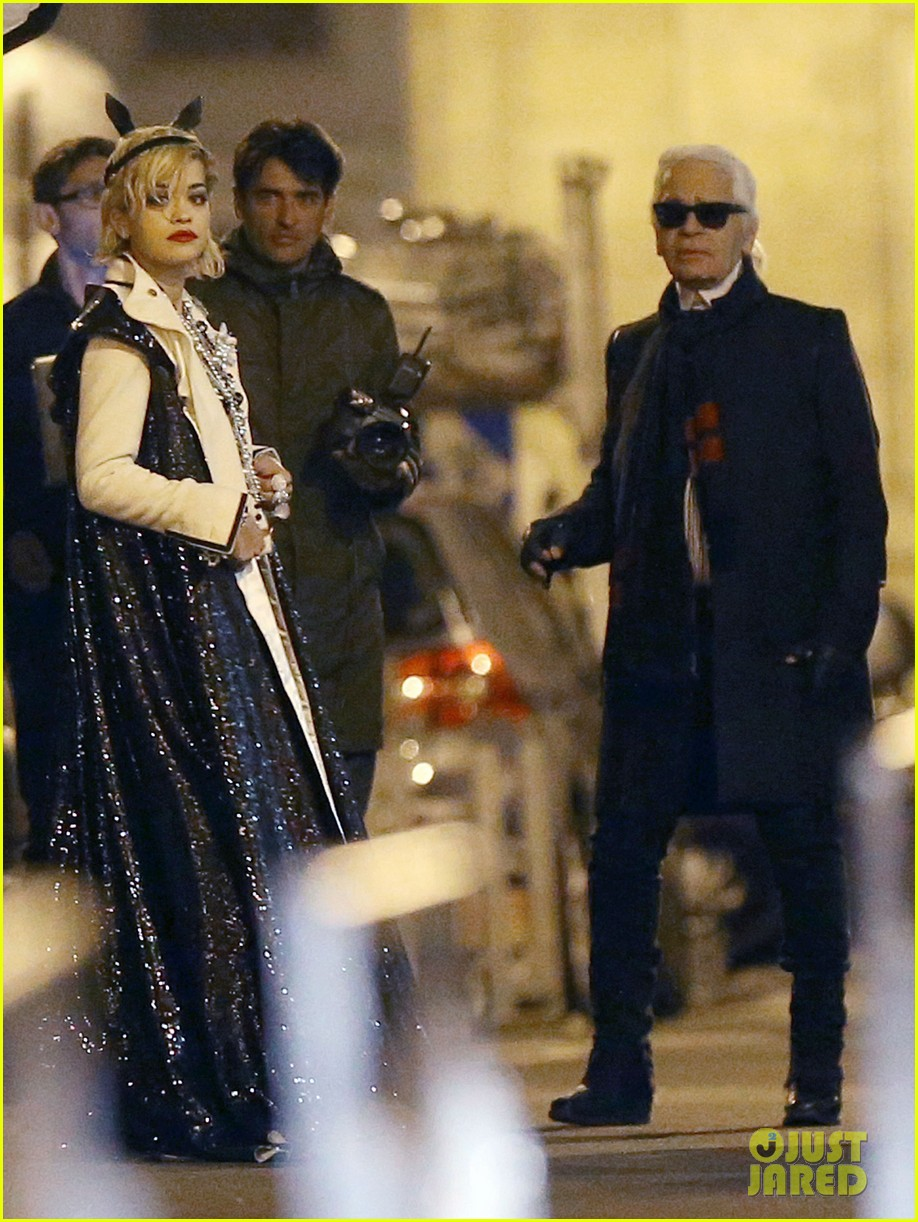 rita ora midnight photo shoot with karl lagerfeld 082971437