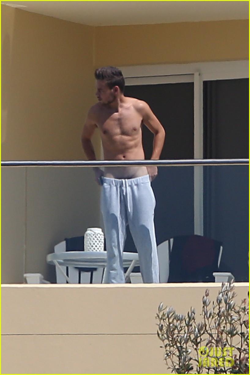 Liam Payne Wears Underwear Super Low on Hotel Balcony