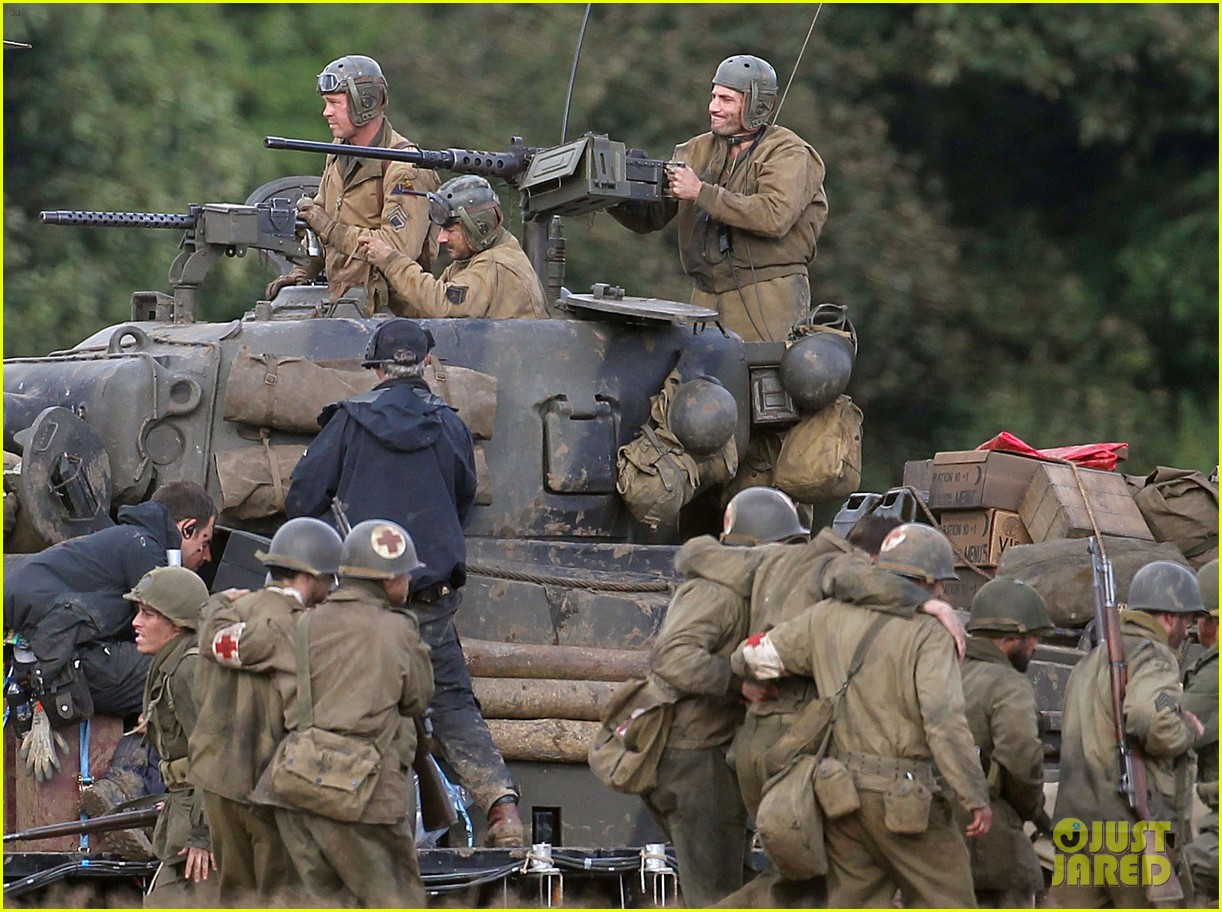 Images Of The Movie Fury: Brad Pitt & Shia LaBeouf Continue Filming 'Fury' Tank