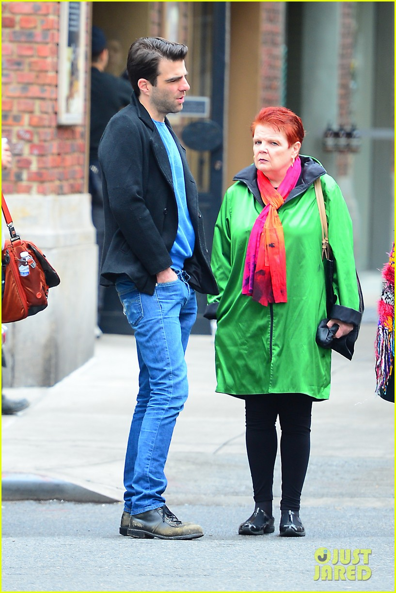 zachary quinto go see big fish on broadway 07
