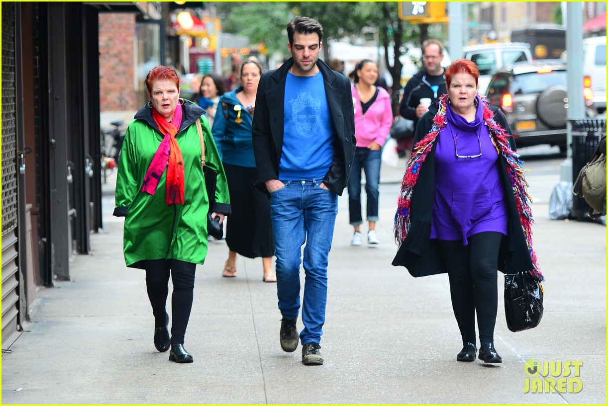 zachary quinto go see big fish on broadway 10