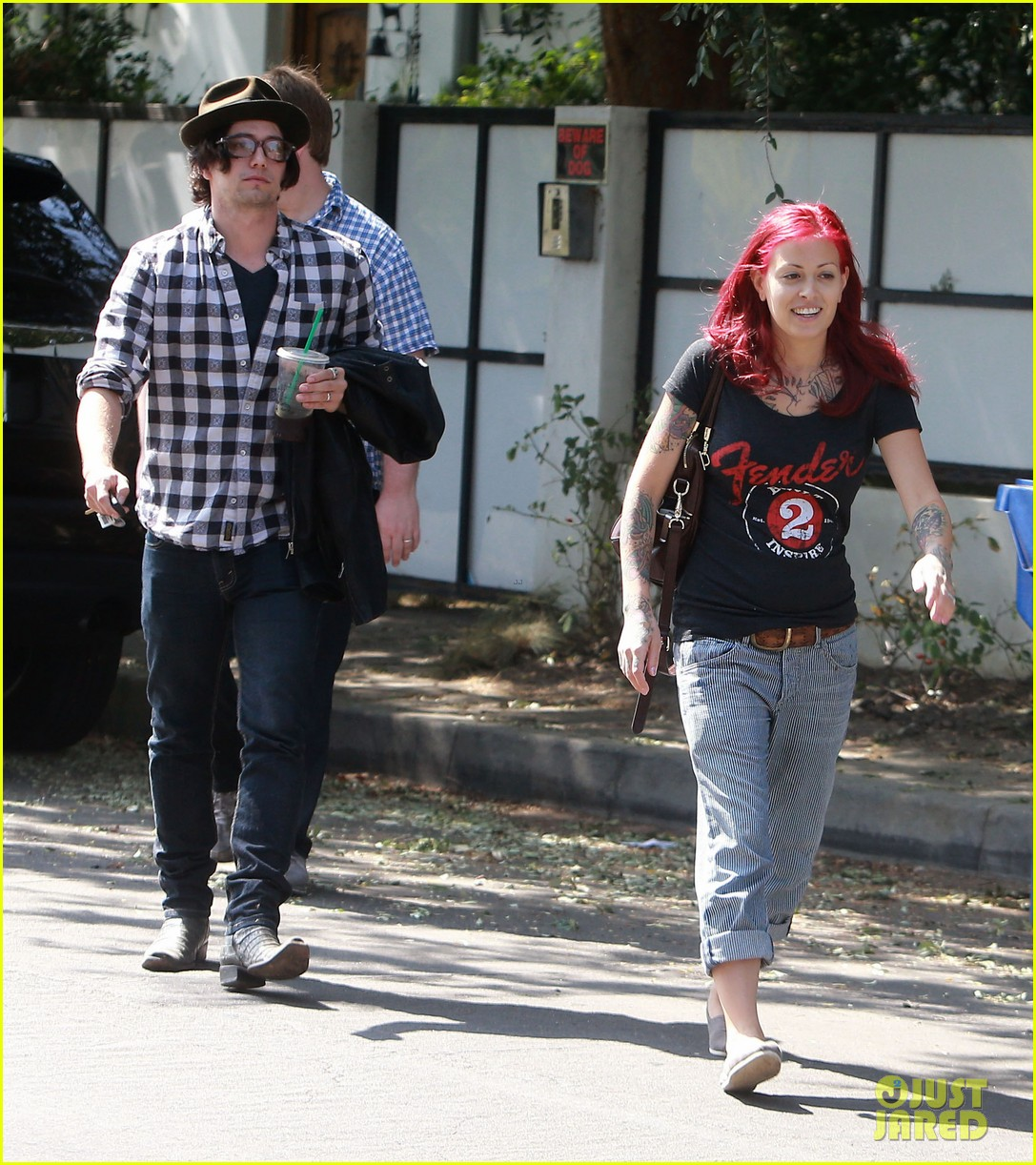 jackson rathbone amp sheila hafsadi step out after wedding