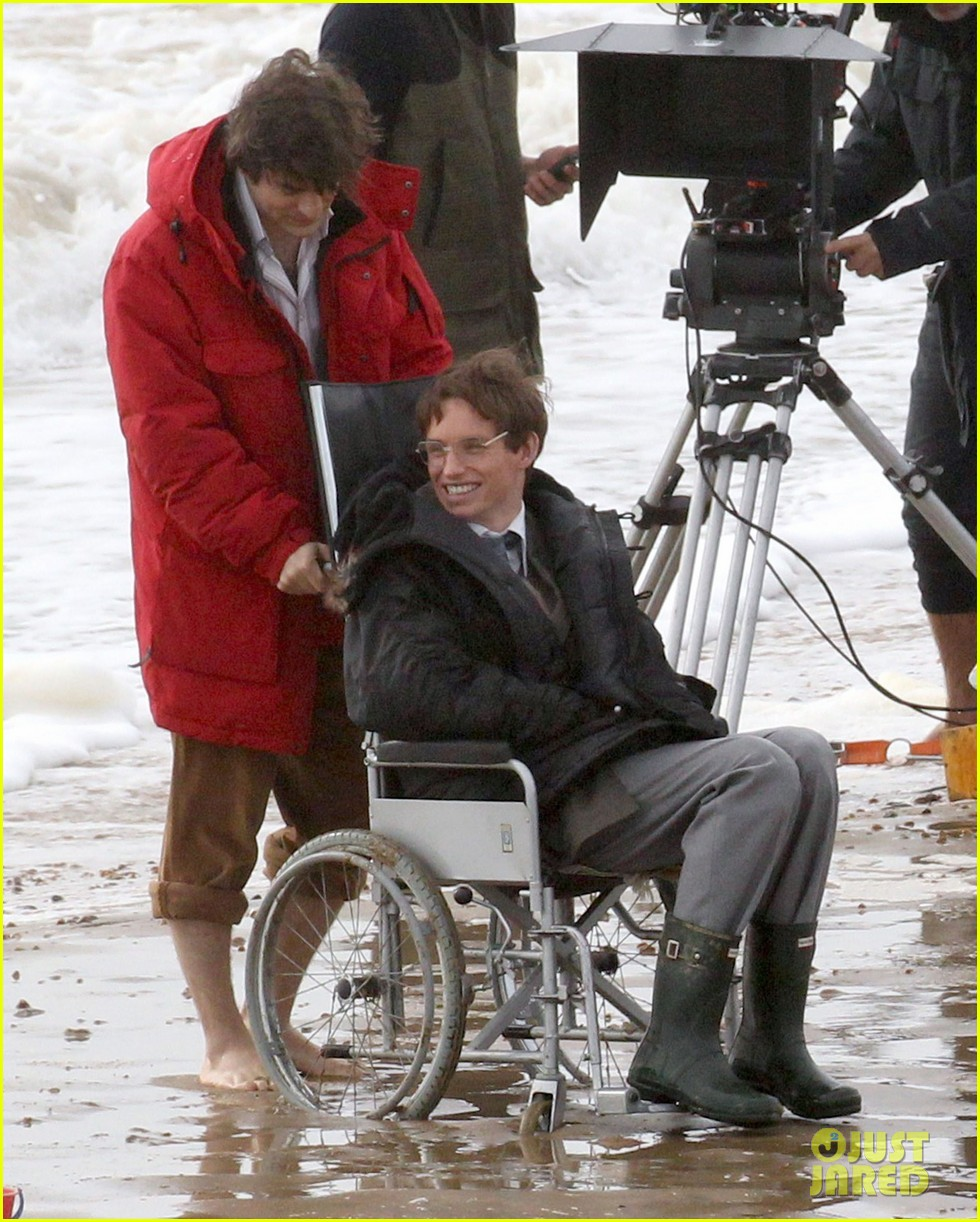 eddie redmayne gets piggy back ride on set 152975426