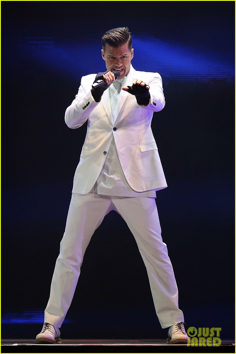 ricky martin hits the stage in australia 072966741