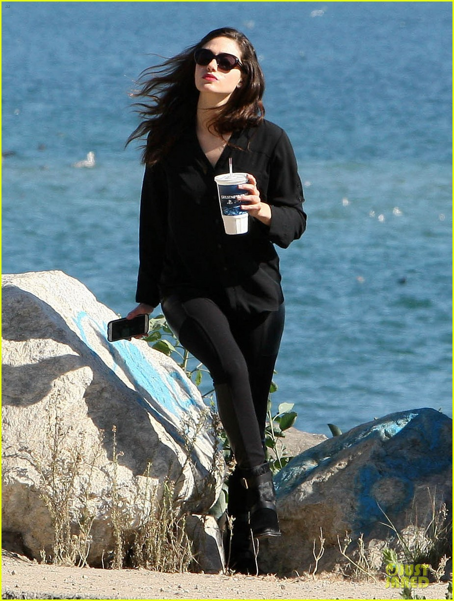 emmy rossum moment of peace at the beach 212969272