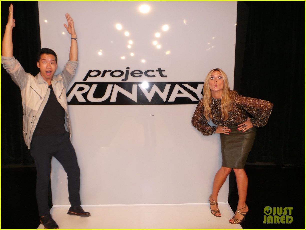 emmy rossum on project runway behind the scenes look 222964608
