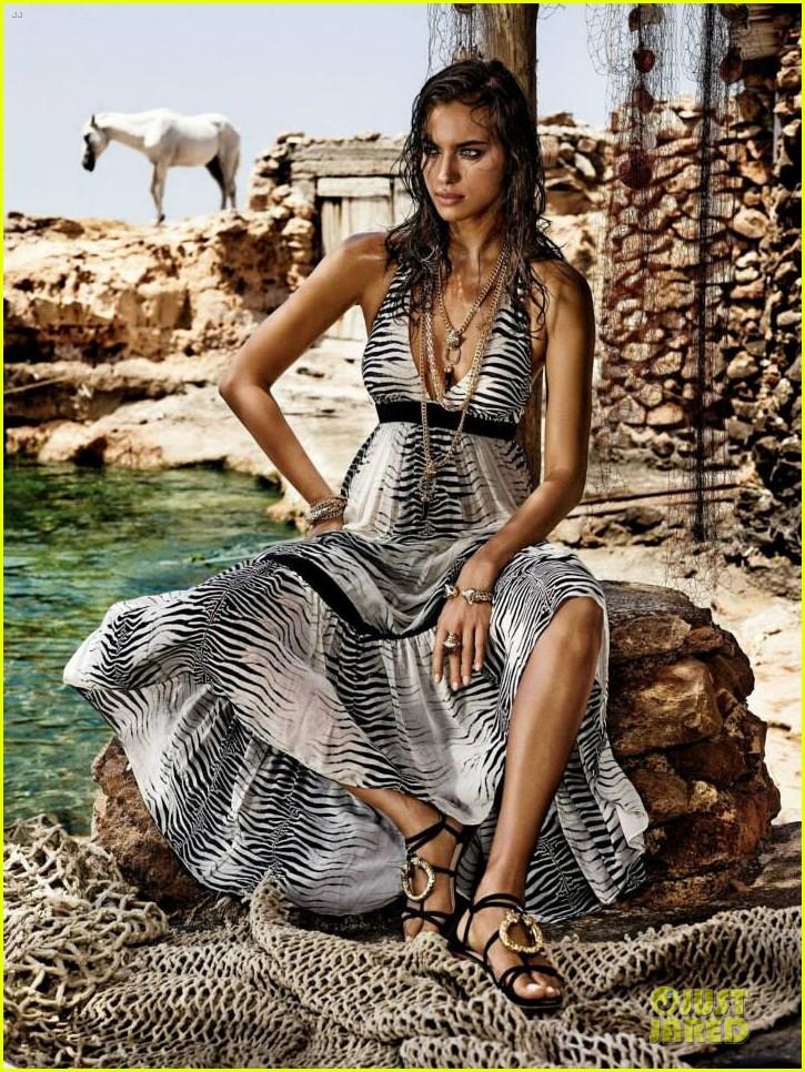 irina shayk robert cavalli collection campaign pics 032979501