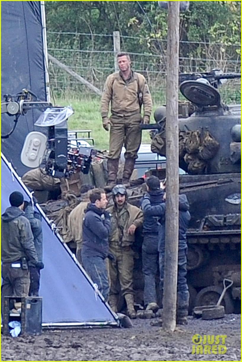 brad pitt shia labeouf continue fury filming 102983476