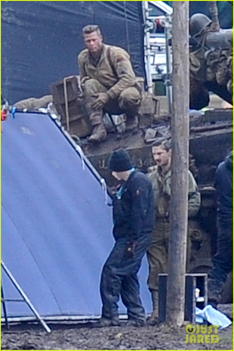 brad pitt shia labeouf continue fury filming 112983477
