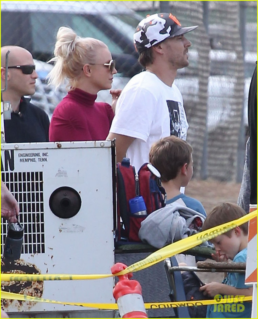 britney spears jayden soccer game with kevin federline 132980902