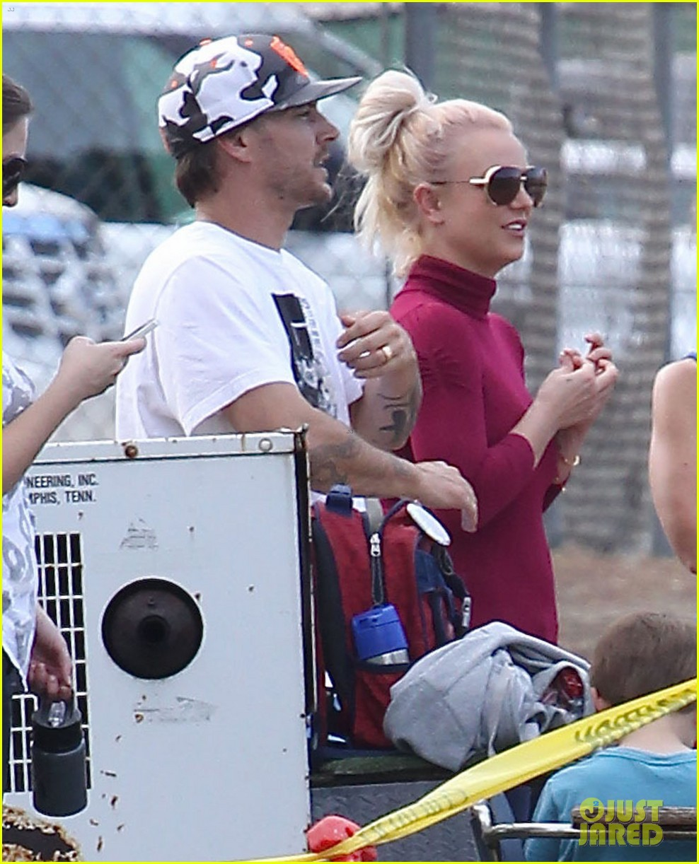 britney spears jayden soccer game with kevin federline 172980906