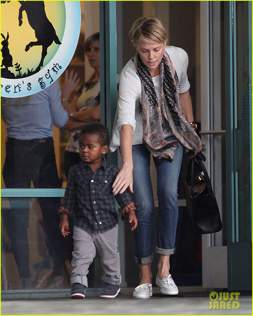 charlize theron holds on tight to son jackson 052969518