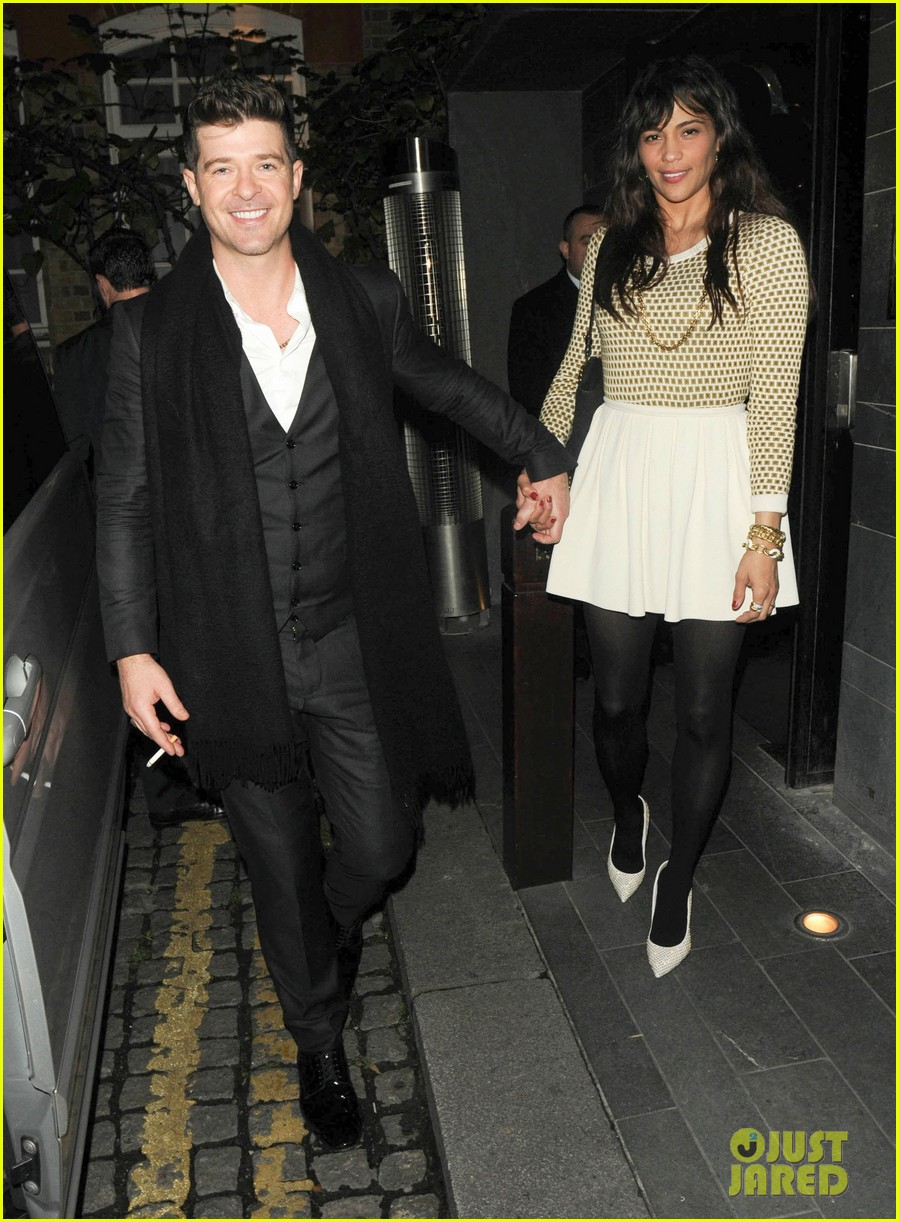 robin thicke london night out with paula patton 072976373