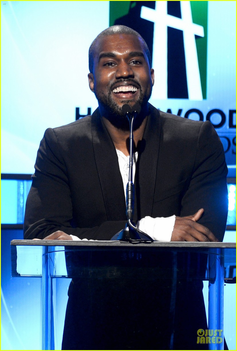 kanye west engagement glow at hollywood film awards 2013 082976854