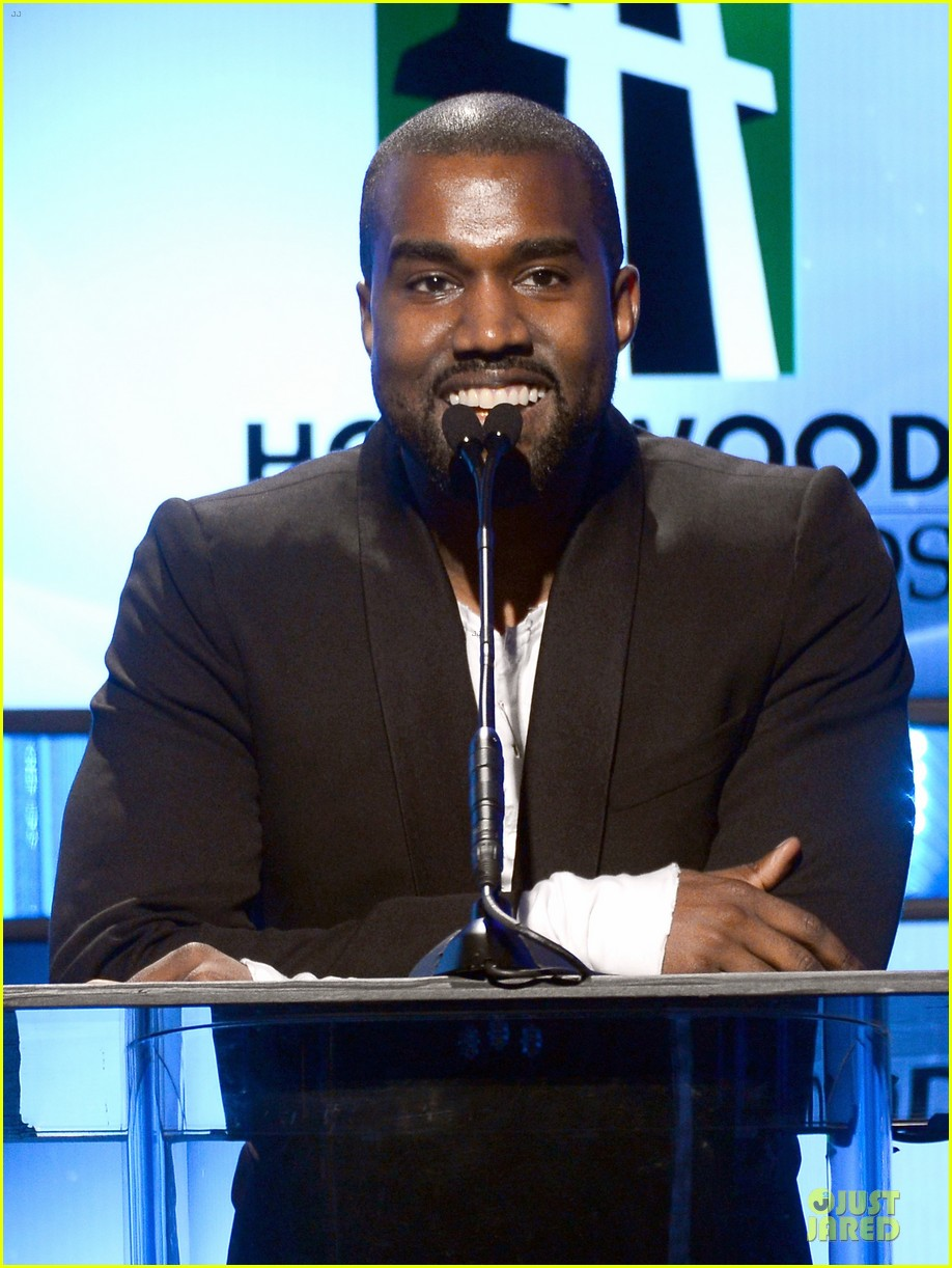 kanye west engagement glow at hollywood film awards 2013 092976855