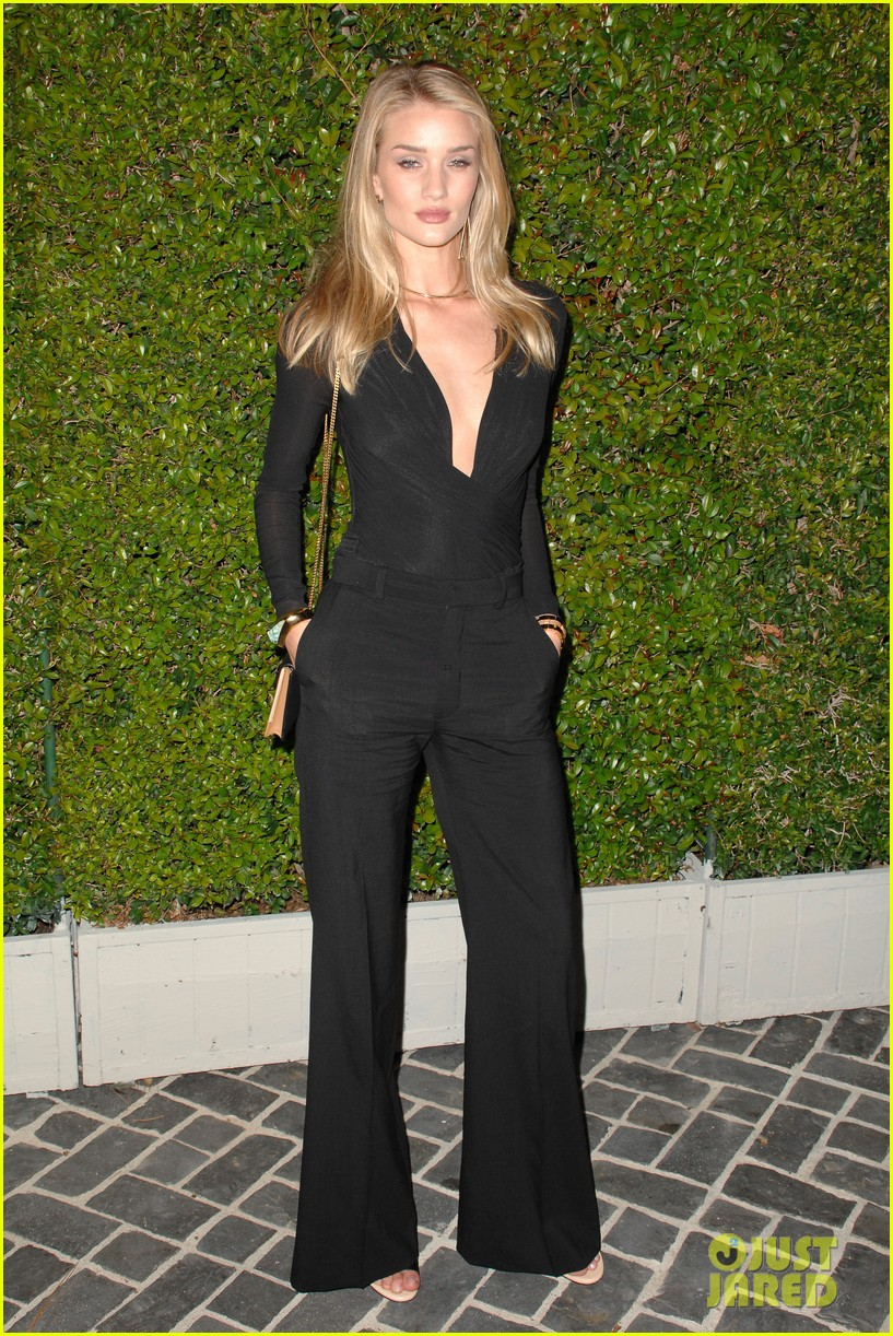 rosie huntington whiteley nicole richie chloe fashion show dinner 13