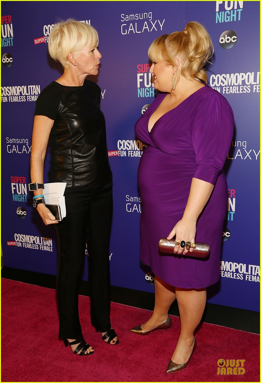 rebel wilson super fun night premiere 18