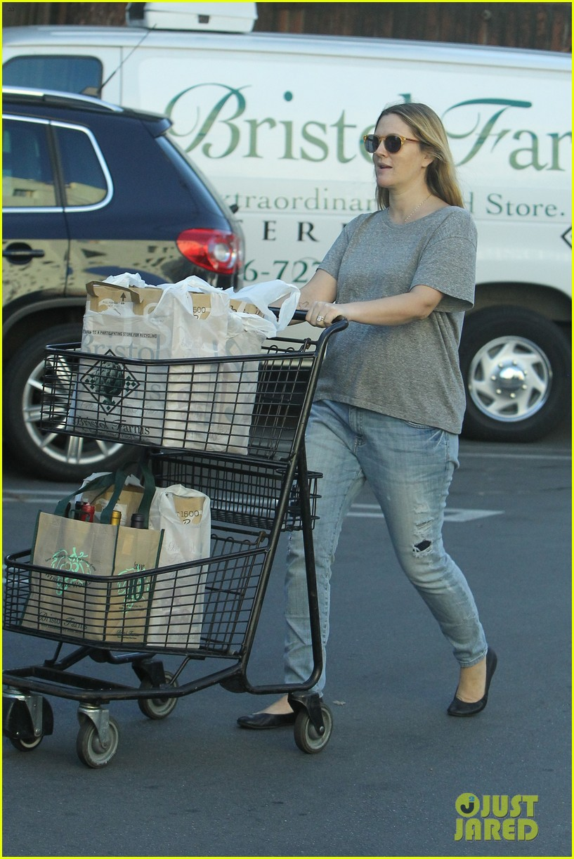 drew barrymore thanksgiving grocery shopping 013001976