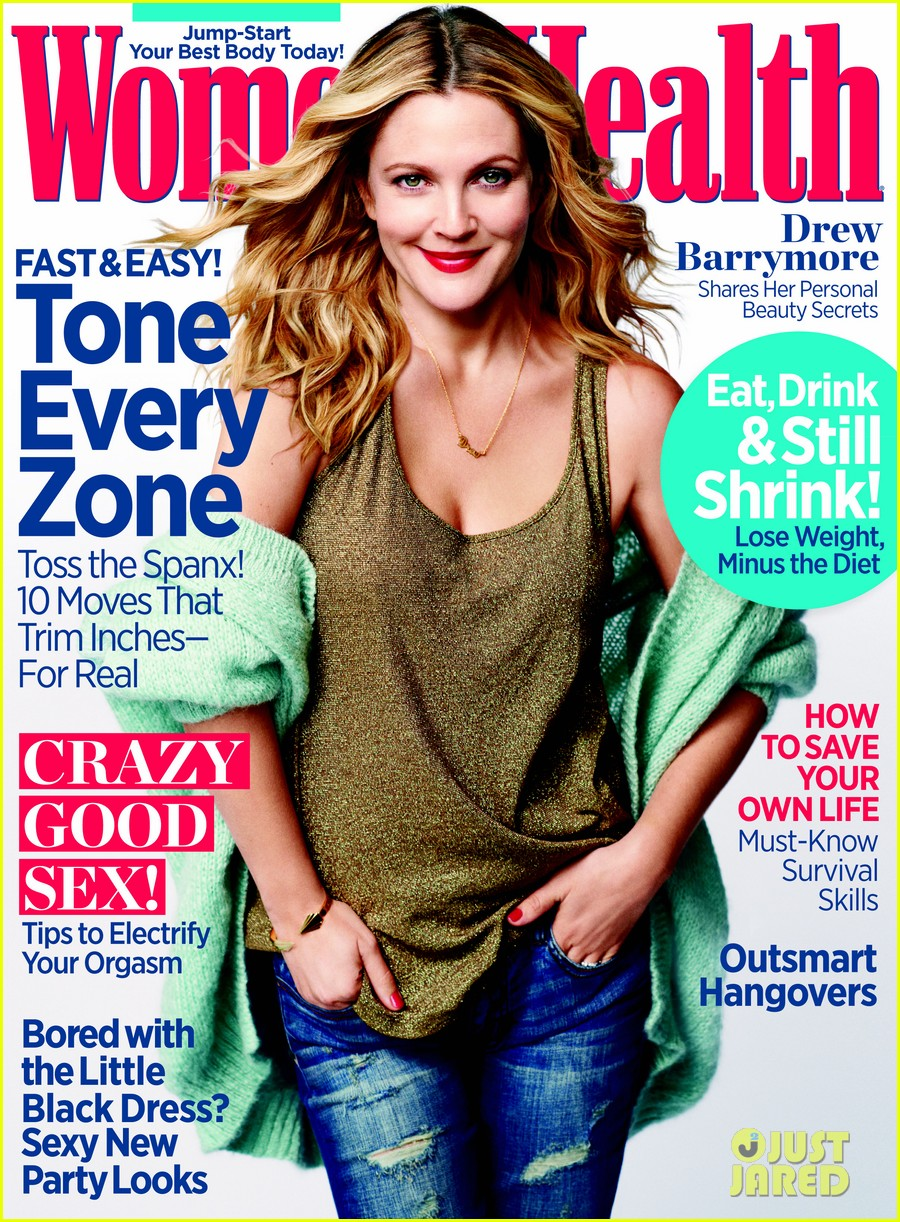 drew barrymore covers womens health december 2013 022992840