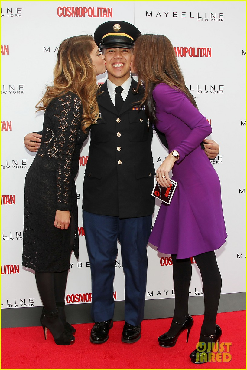 ashley benson kisses for the troops on veterans day 012990315