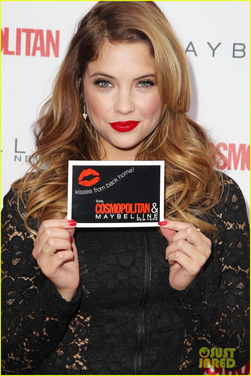 ashley benson kisses for the troops on veterans day 02