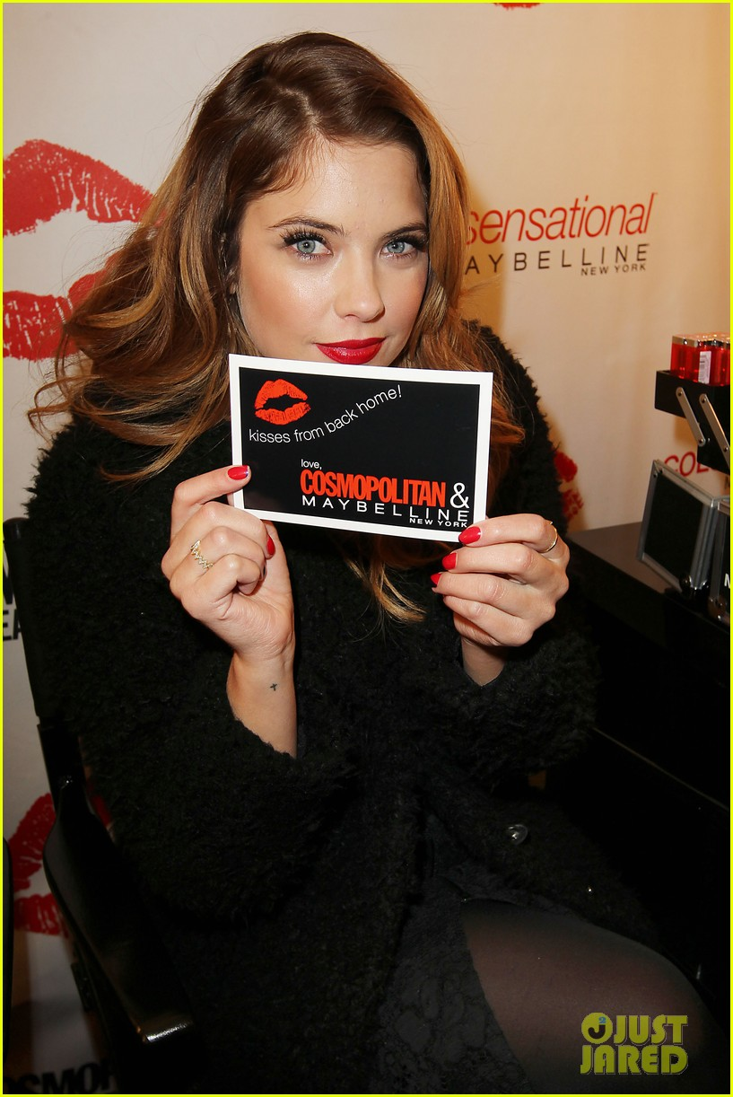 ashley benson kisses for the troops on veterans day 132990327
