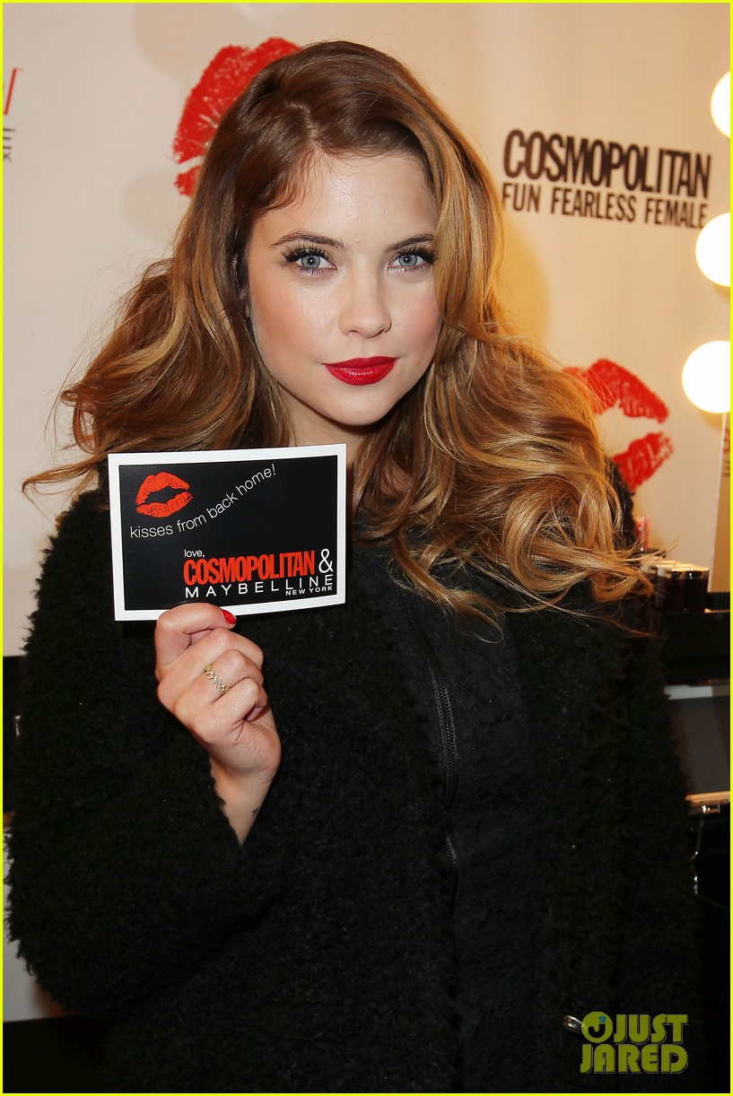 ashley benson kisses for the troops on veterans day 162990330