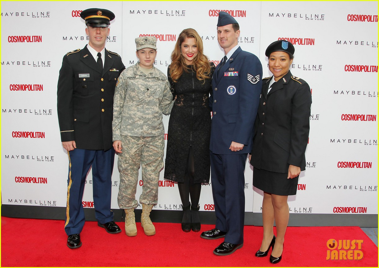 ashley benson kisses for the troops on veterans day 242990338