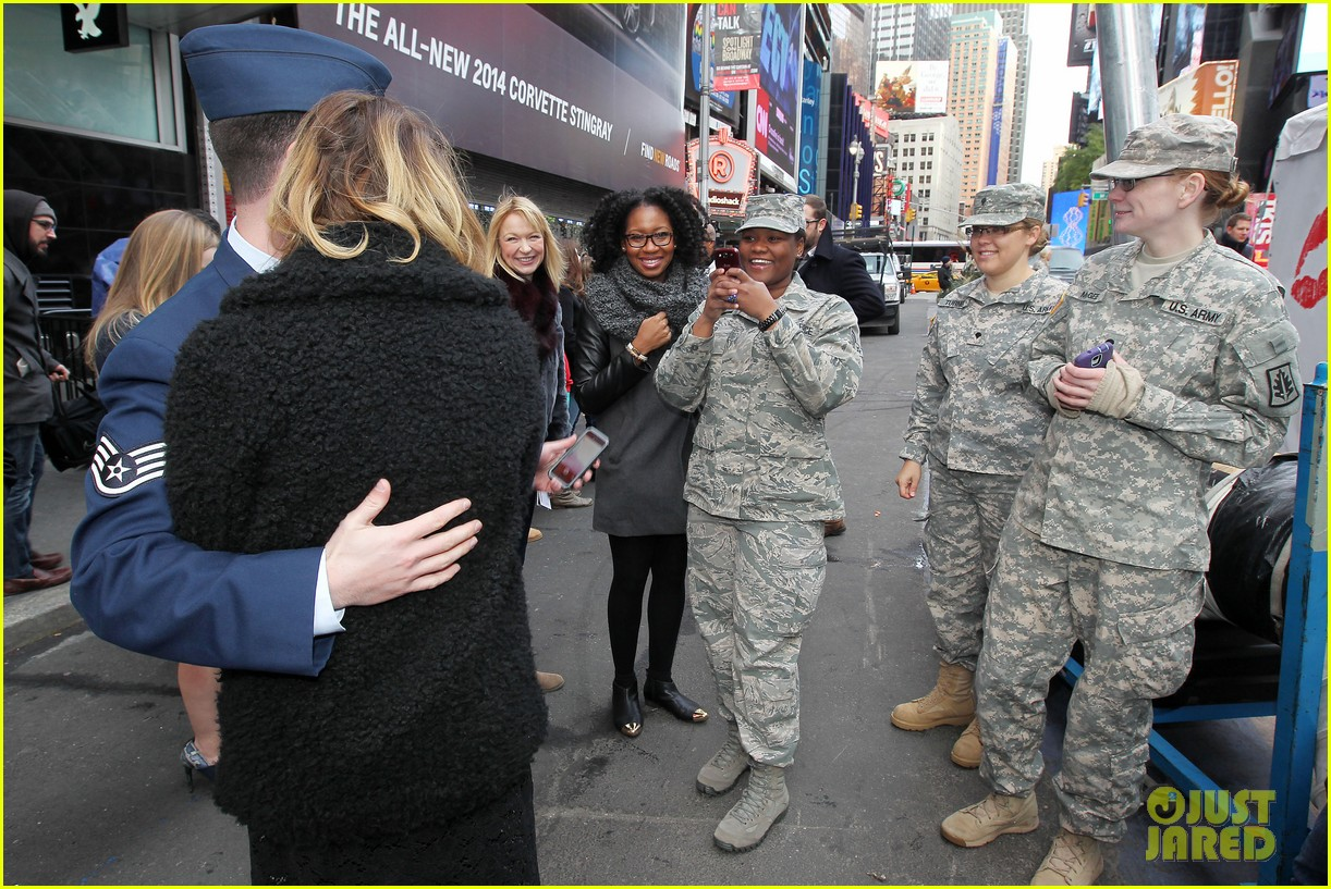 ashley benson kisses for the troops on veterans day 252990339
