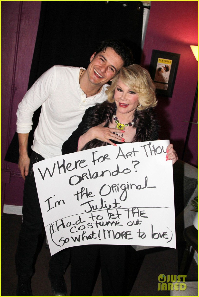 orlando bloom greets original juliet joan rivers backstage 052989661