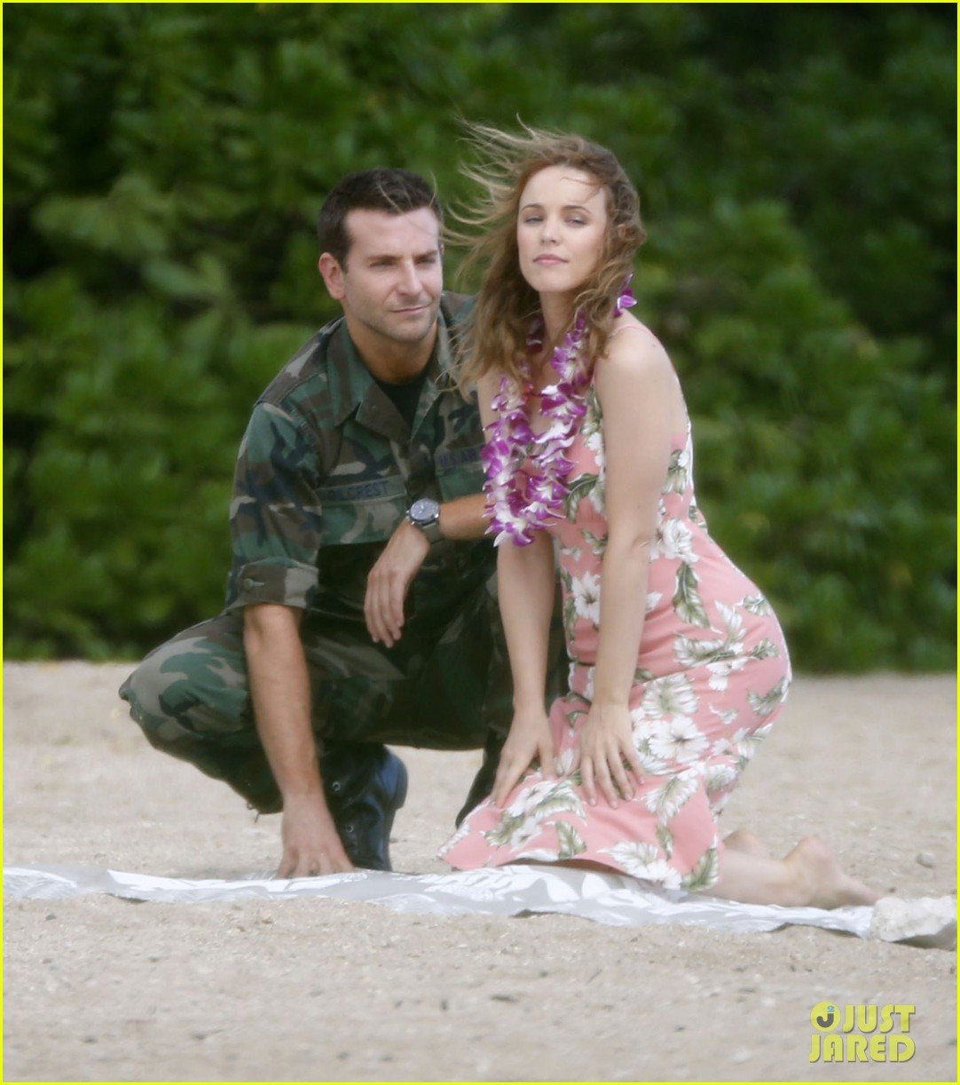 bradley cooper films with rachel mcadams suki waterhouse flies out 052987720