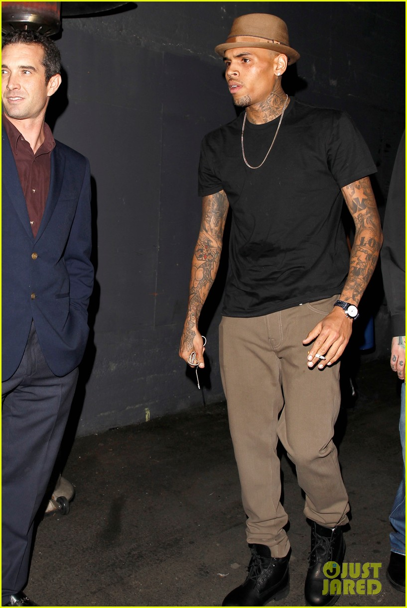 chris brown steps out after stint in rehab 022993384