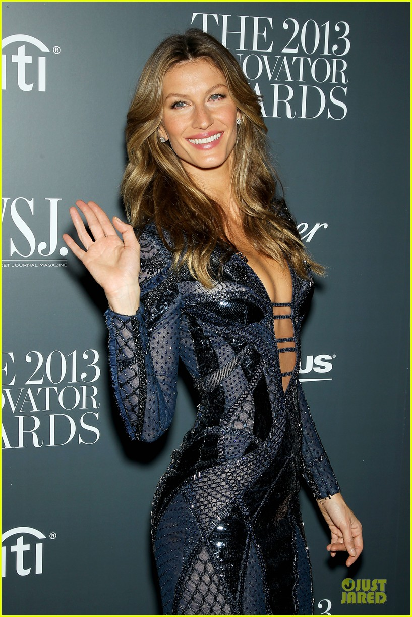 gisele bundchen plunging neckline at wsj magazine awards 112987248