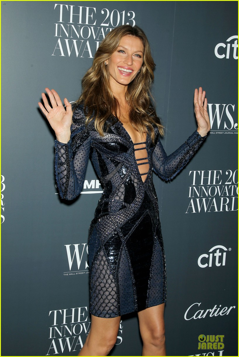 gisele bundchen plunging neckline at wsj magazine awards 132987250