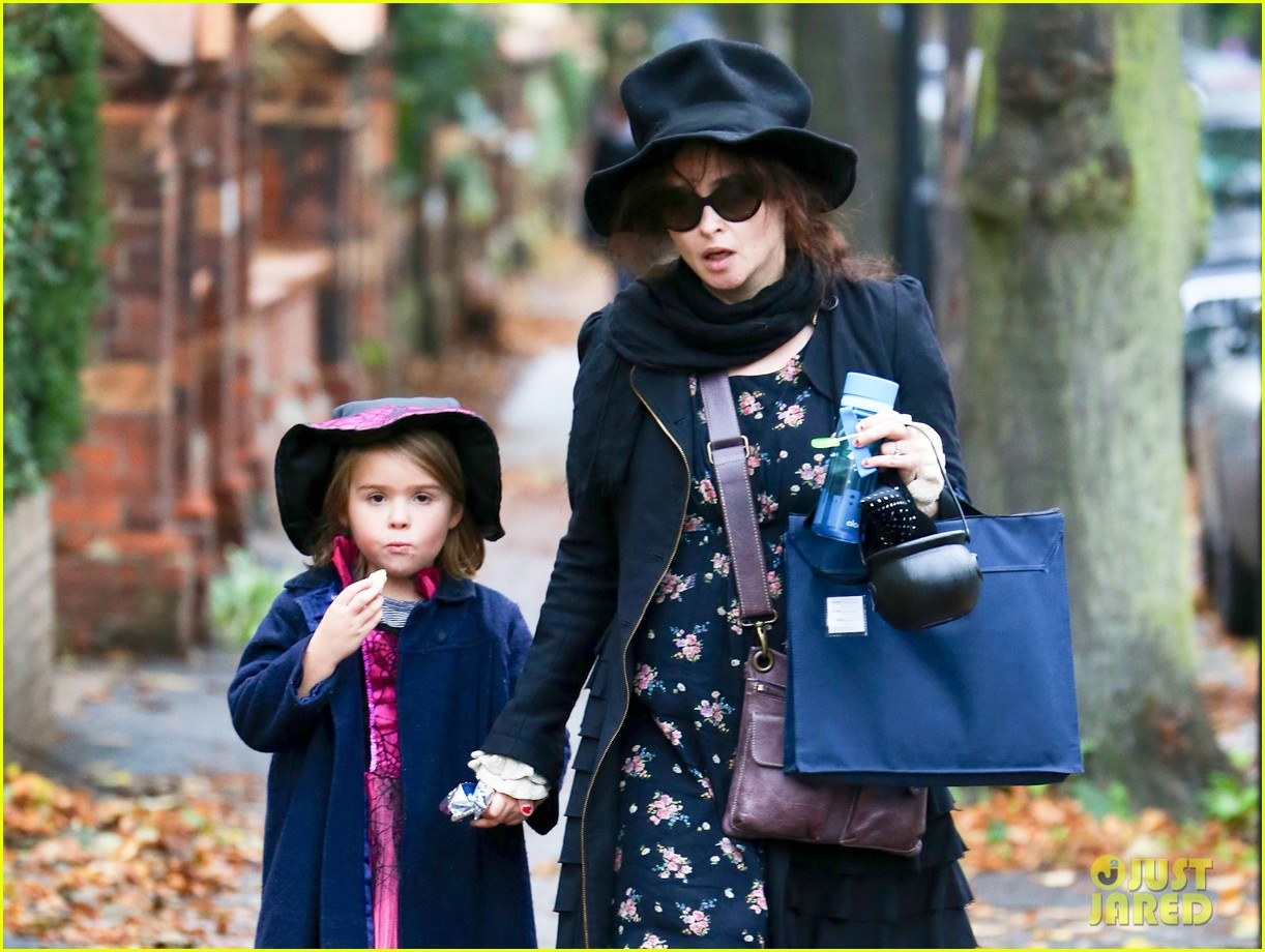 helena bonham carter trick or treats with daughter nell 022983752
