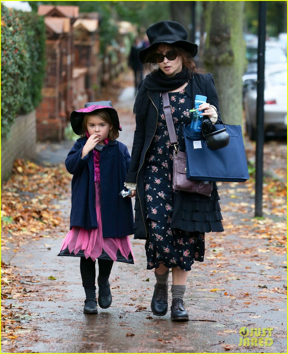 helena bonham carter trick or treats with daughter nell 032983753