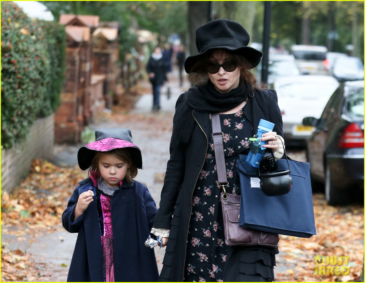 helena bonham carter trick or treats with daughter nell 042983754
