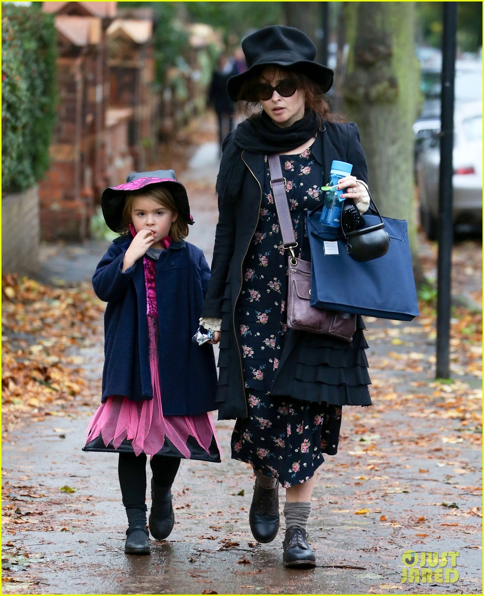 helena bonham carter trick or treats with daughter nell 062983756